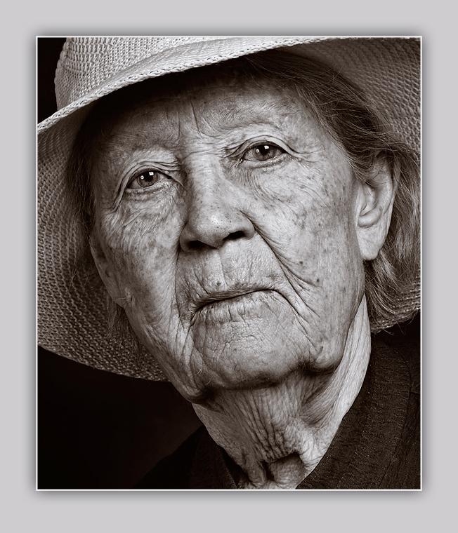 Portrait of elderly woman 2 by Elderly Woman Portrait