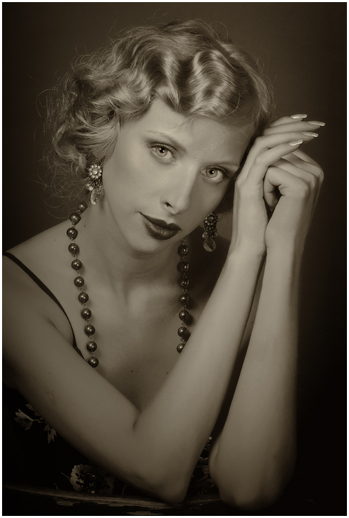 Classical female portrait 12 by Albert-Smirnov