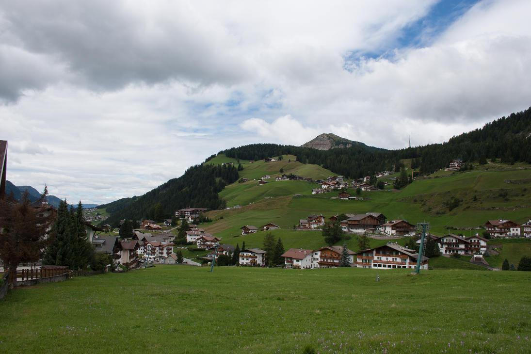 Wolkenstein Dolomites 1 by Drezdany-stocks