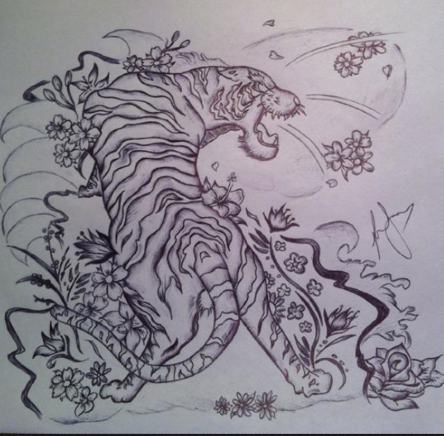 Japanese Tiger by LiinzB on DeviantArt