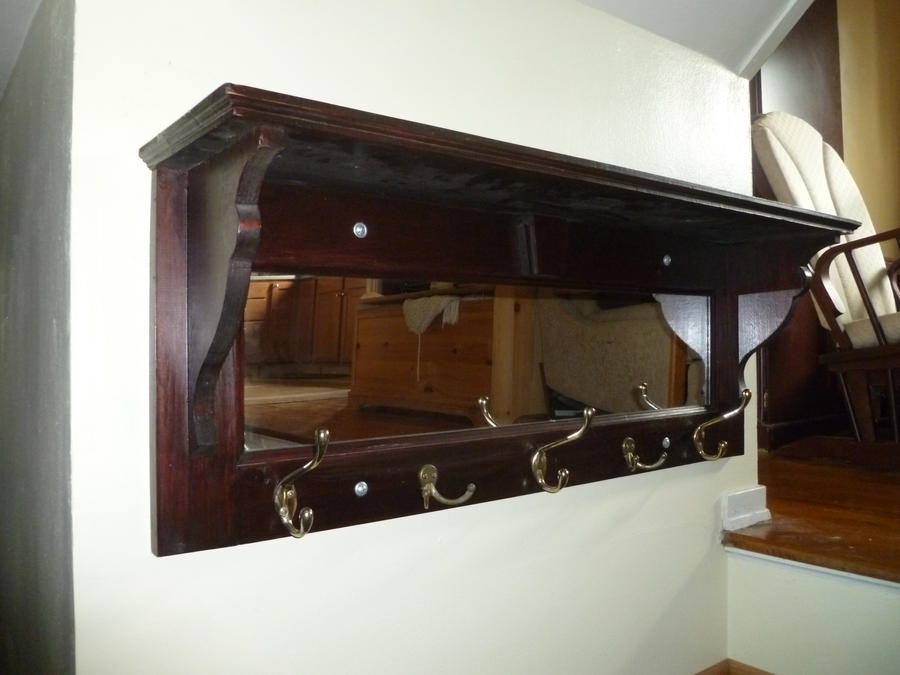 Shelf Coat Rack with Mirror by LoranJSkinkis on DeviantArt