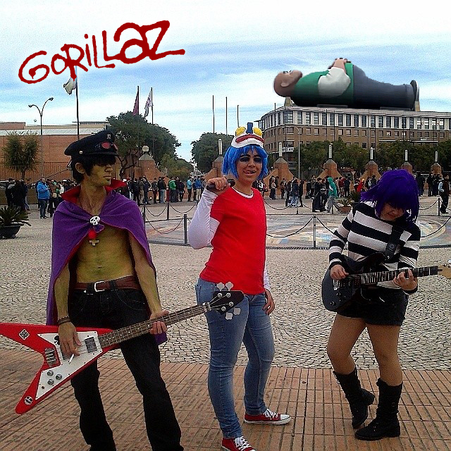 Our GoRiLLaZ Cosplay  now with Russel    by SandyukoRussel Gorillaz Cosplay