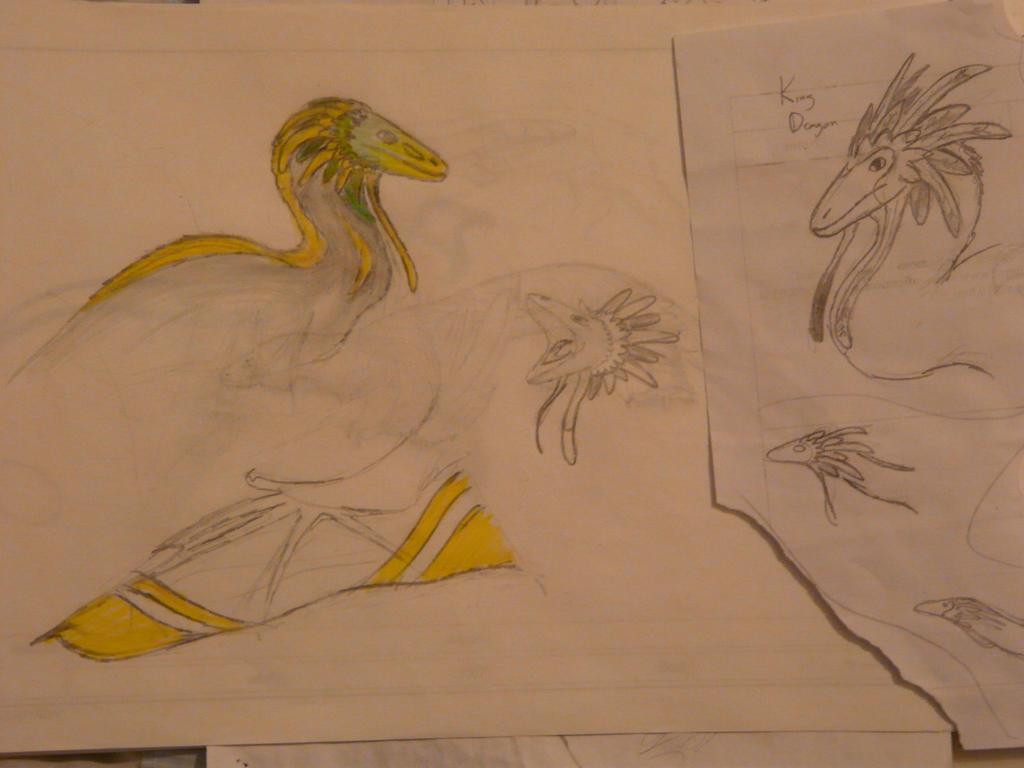 Spec Saturday - Golden Crest Dragon by SpeculaTimsauru5