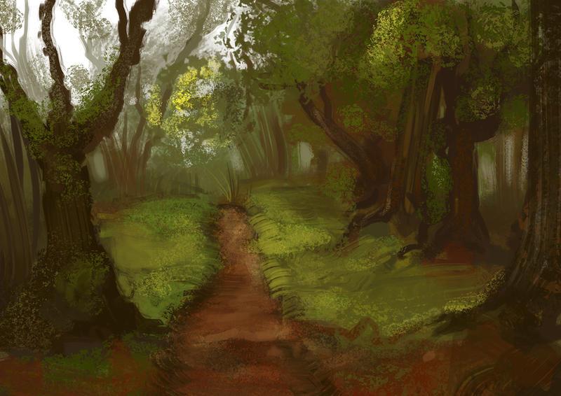 Speedpaint: forest by JuneJenssen