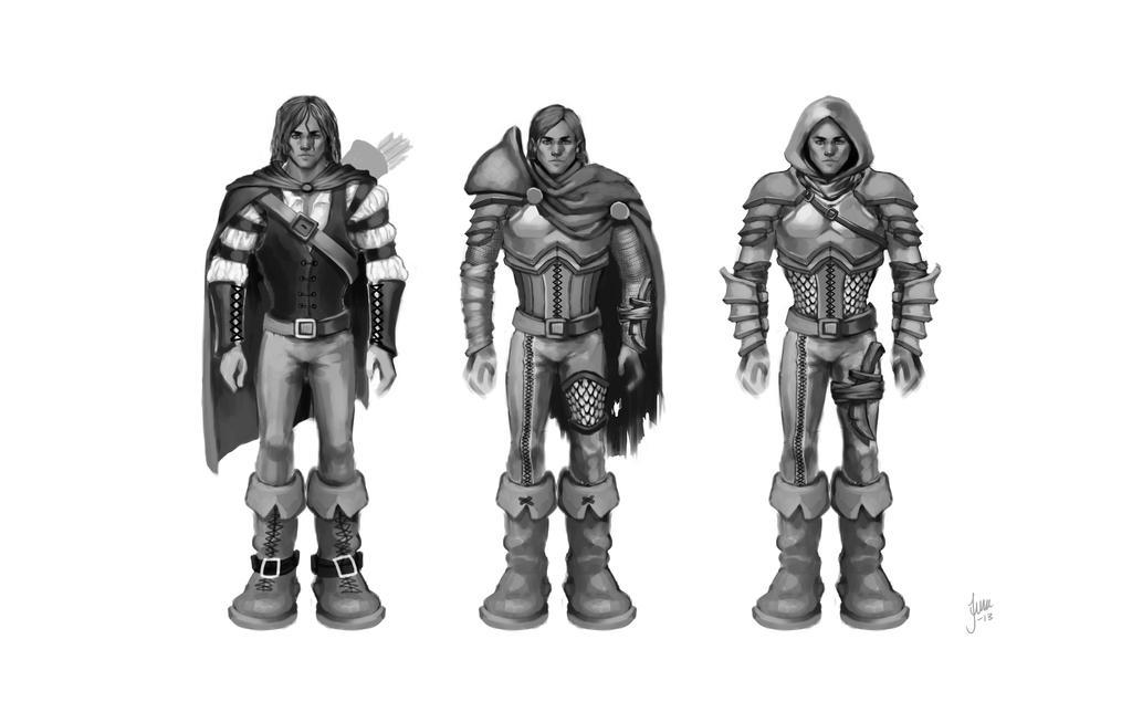 Character design: Huntsman by JuneJenssen