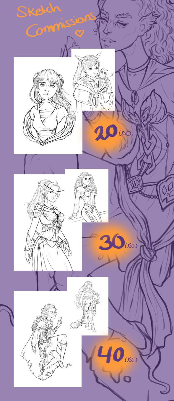 Sketchcommissions by JuneJenssen