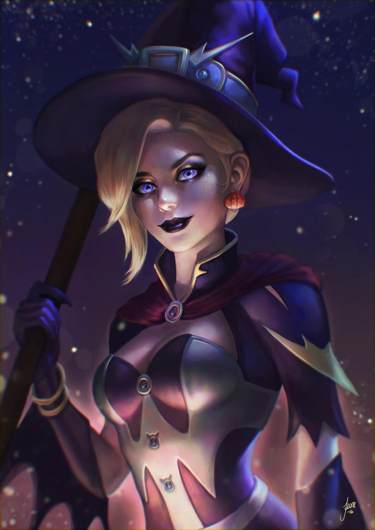 Halloween Mercy by JuneJenssen on DeviantArt