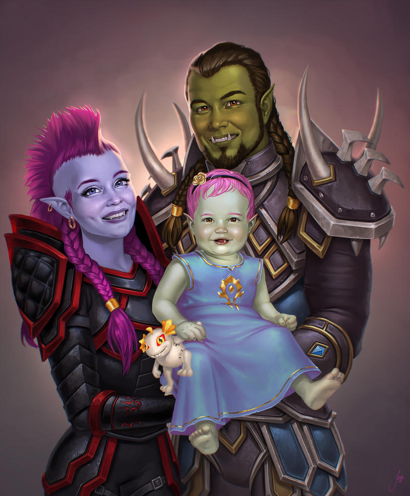 Family portrait by JuneJenssen