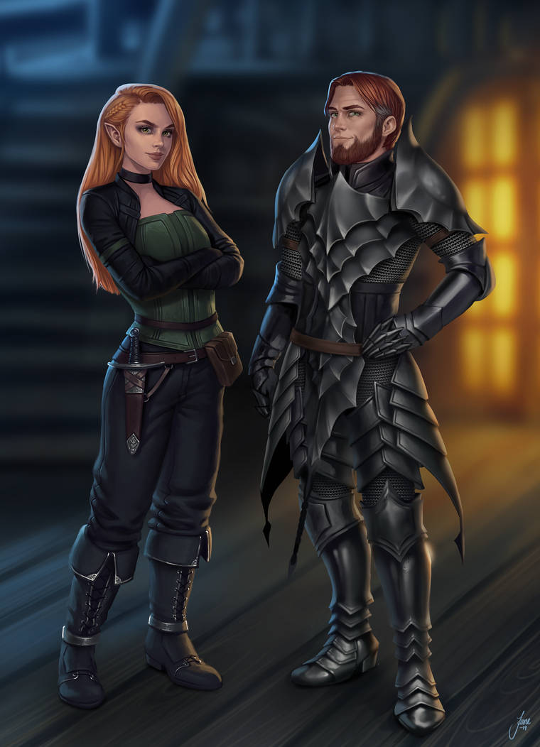 Dalhara and Cederic by JuneJenssen