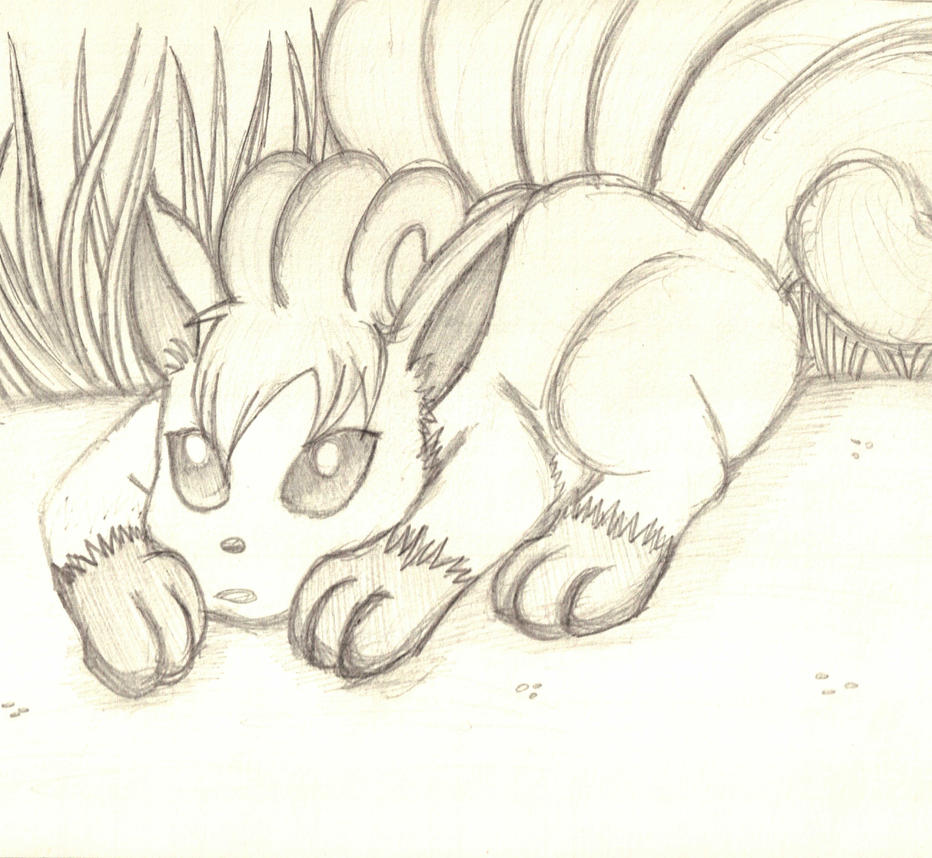 Pokemon Request: Vulpix (Sketch) by 11KairiMayumi11
