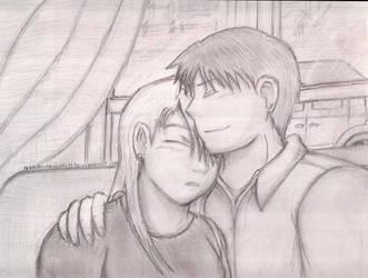 Embrace sketch by 11KairiMayumi11