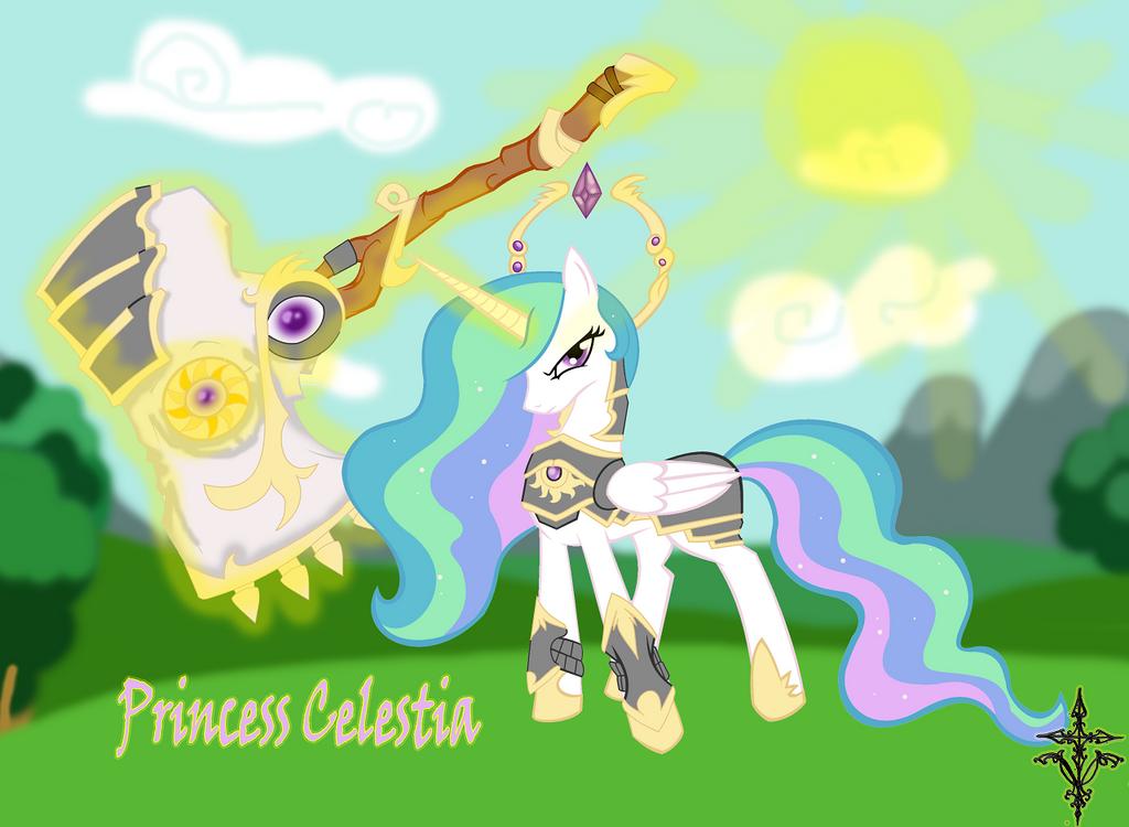 Princess Celestia, The Solar Goddess by TheLunauranWolf