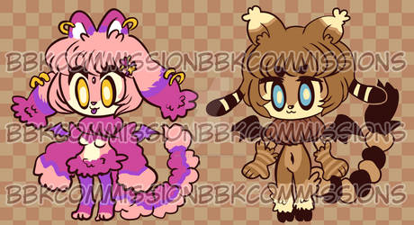 Manticutes adopts 2 open!! $5 each