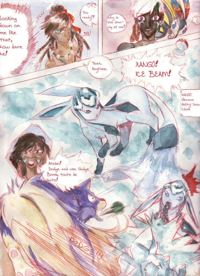 6XL R1 - Ive's battle page 2 (ice beam) by StringlessKite