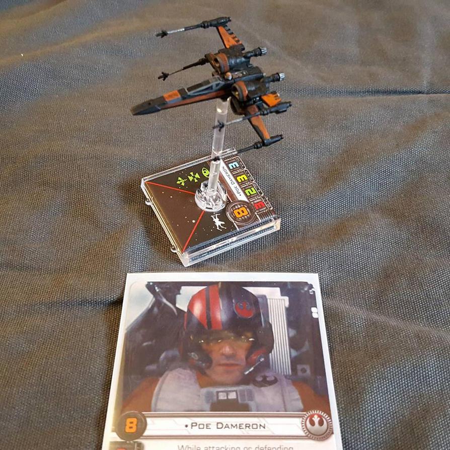 Poe Dameron's X-Wing [X-Wing Miniatures Game] by yukikaze07