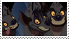 The Three Hyenas -Stamp- by Glowhyena