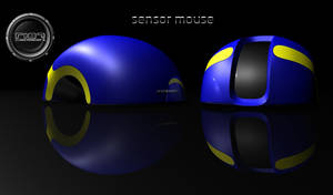 Sensor Mouse Blue Yellow by robert187