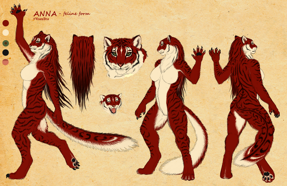 Anna as werefeline - reference by VixenDra
