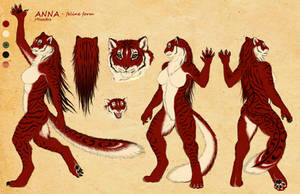 Anna as werefeline - reference