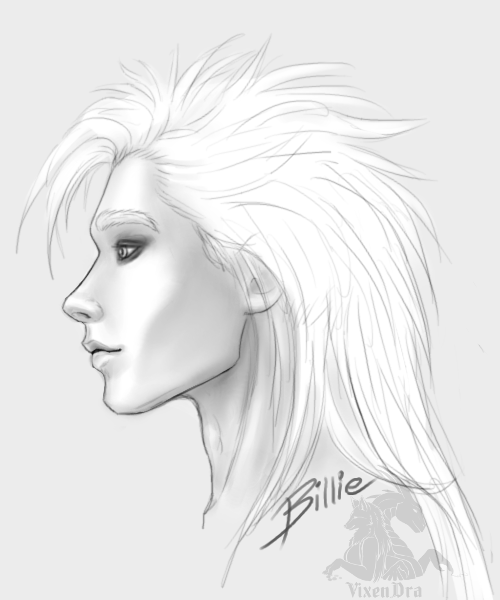 Billie/Wilhelm (profile view) by VixenDra