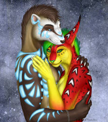 1st place prize: Arty and Luka for Drerika by VixenDra