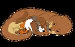 Ostlean Otter Hugging a Porg Plush