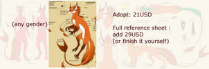 Askentil00011 - $21 (or $50) adopt OPEN by VixenDra