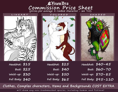 Commission Price Sheet (2020)