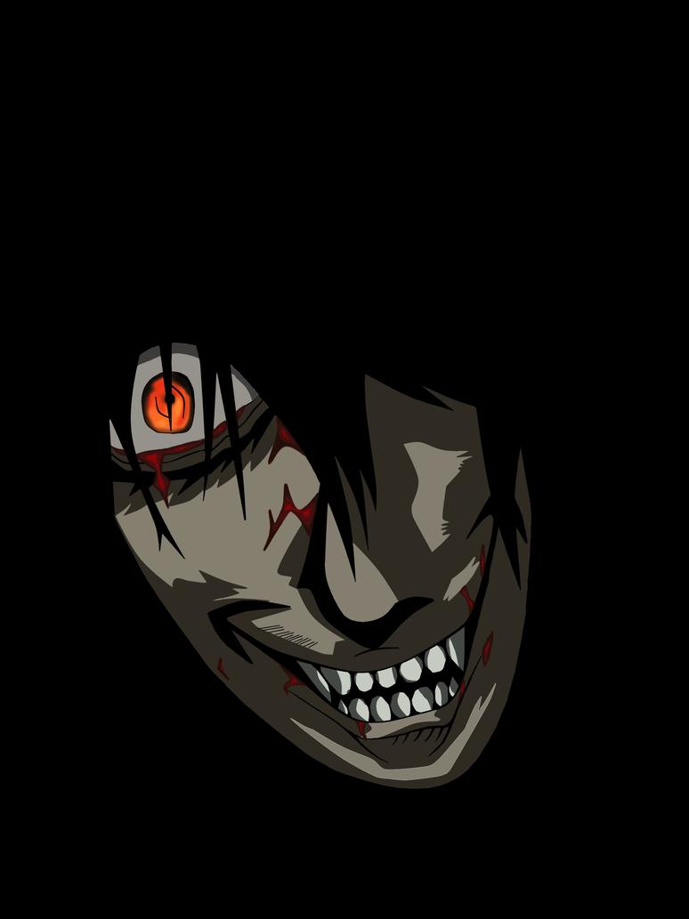 Coloured Alucard Face by Skeletal-Clown