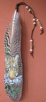 Leopard Feather Painting