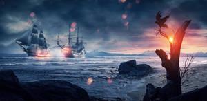 Battle in Skull bay by PepiCzech