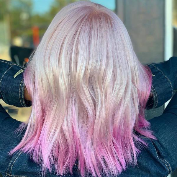 Short Blonde Hair With Pink Tips By Elizabethjones18 On Deviantart