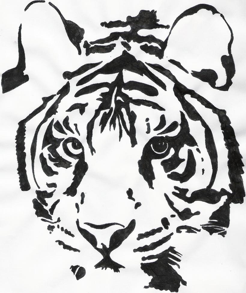 tiger outline by hadesgodofthedead