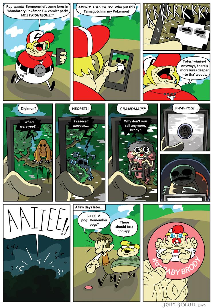 Mandatory Pokemon GO comic by JollyBiscuit