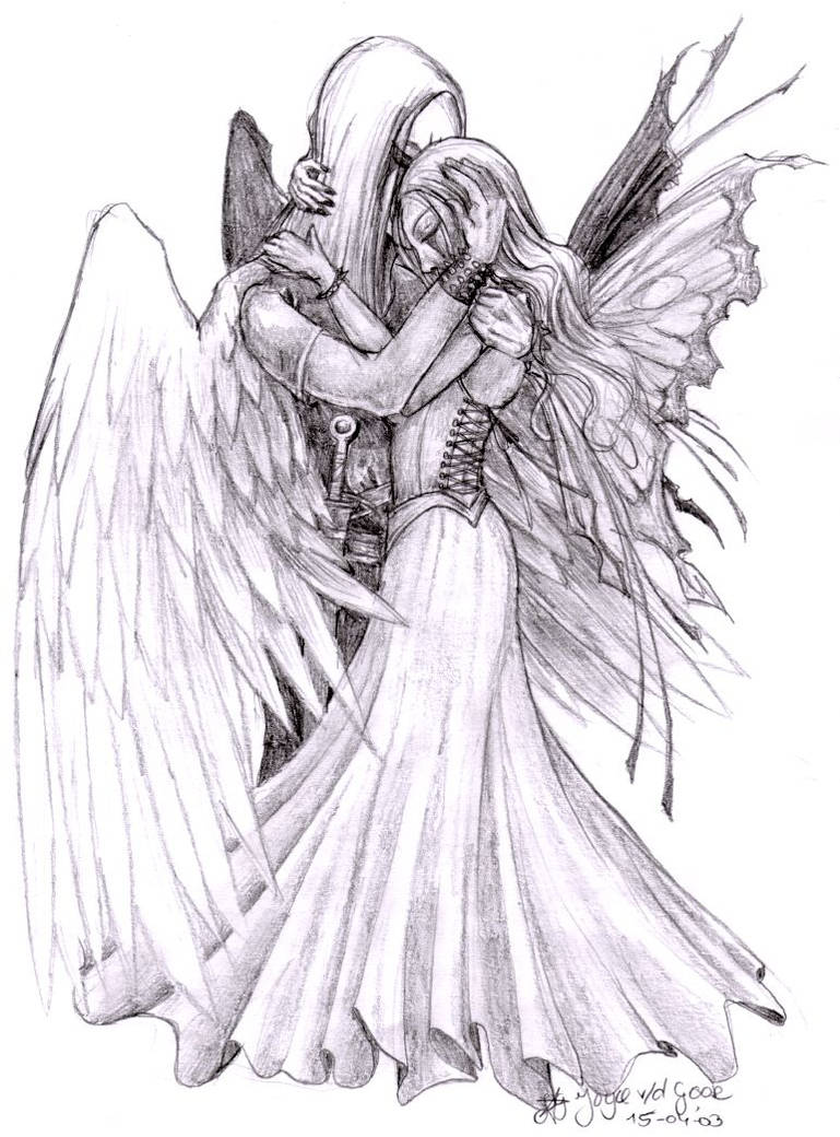 Fairy and her guardian angel by pretzlcosplay on deviantart
