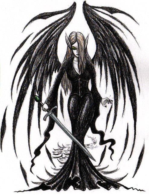 dark angel drawing