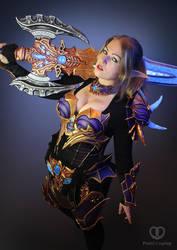 Lineage 2 Moirai armor cosplay