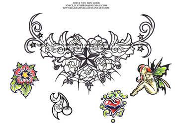 Swallow Tattoo Flash by PretzlCosplay