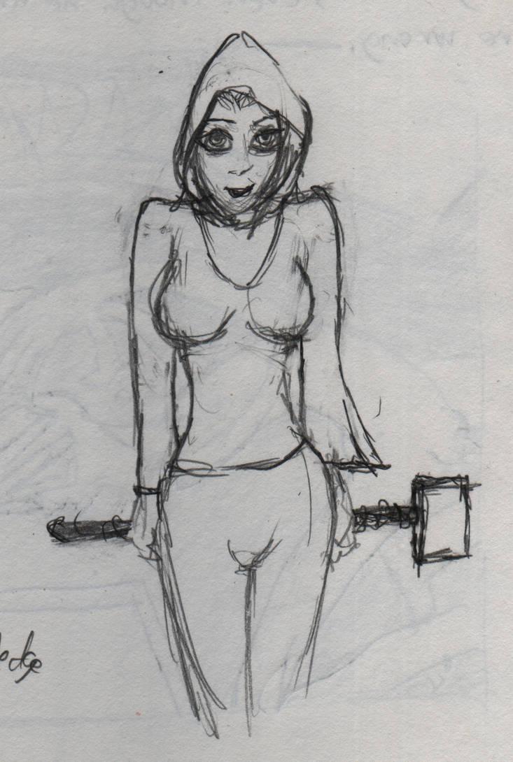 Hammer girl by Artikano