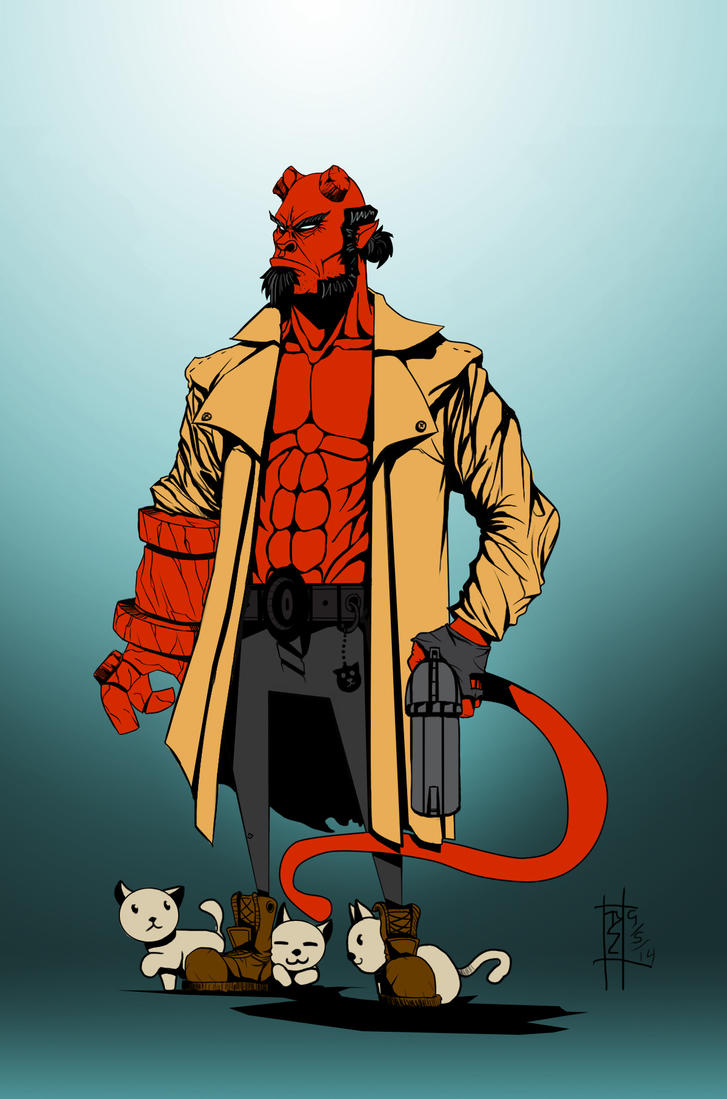 Hellboy Flats by tyzranan