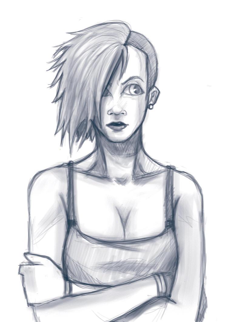 Girl-sketch by tyzranan