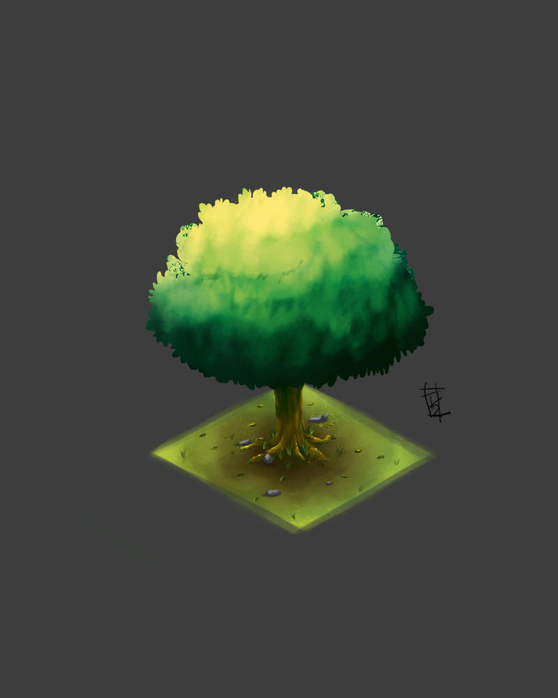 Isometric-tree by tyzranan
