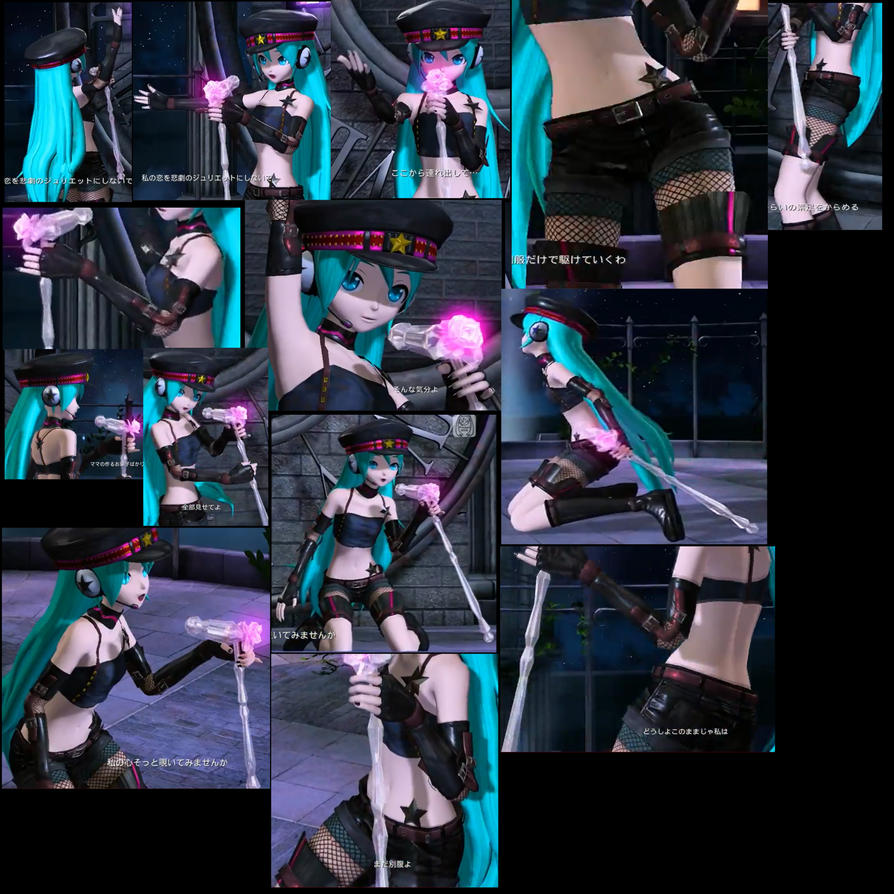 Hatsune Miku outfit punk? and fishnet ref sheet by shadowcat-666