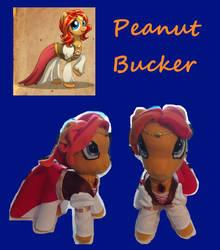 Peanut Bucker Plushie, First attempt by shadowcat-666