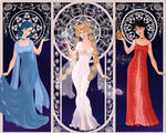 Princess Serenity, Ami, and Rei