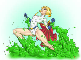 Powergirl - colors by Silveraxe