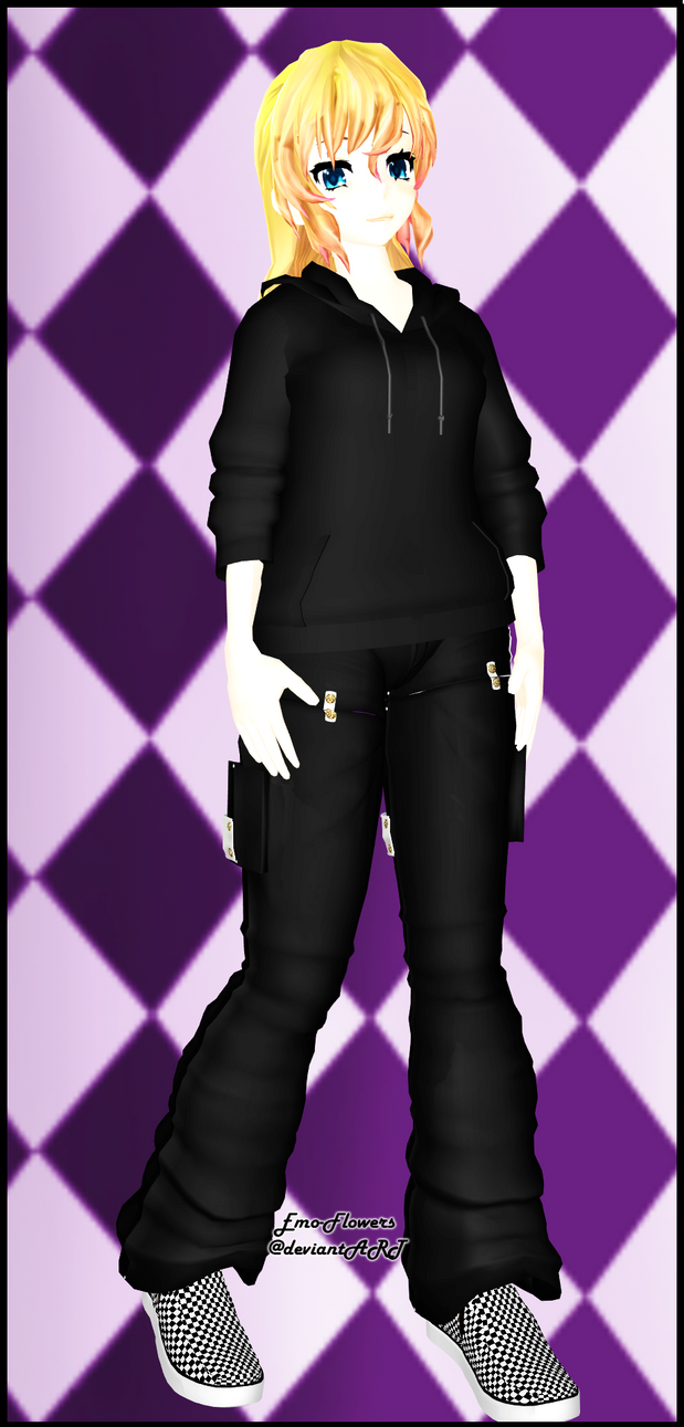 MMD : Emo-Flowers's Selfie (and first) model~! by Emo-Flowers