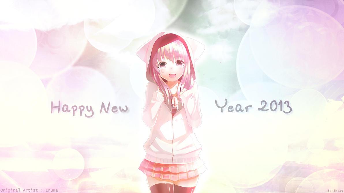 hd wallpaper_happy new year 2013_neko girltakuneru on deviantart