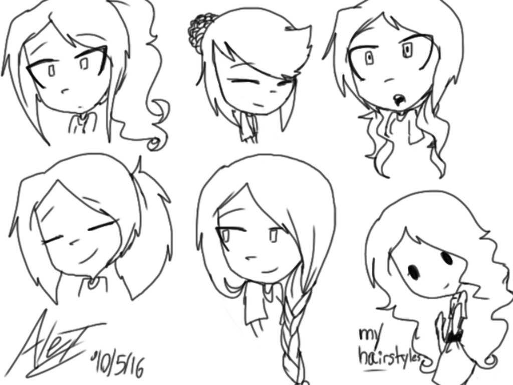 Mariko's Hairstyles by MoonlightWolf17