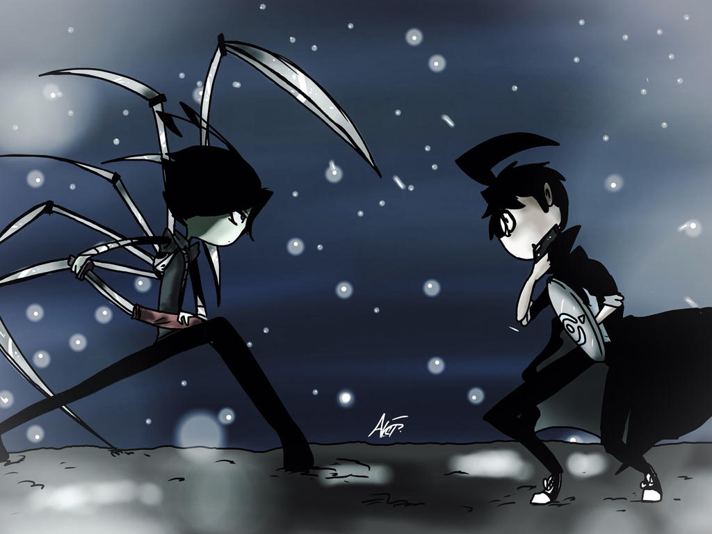 Showdown Beneath the Snow by MoonlightWolf17